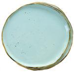Set 6 farfurii întinse Stardust din porțelan – Verde